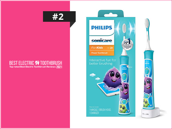Philips Sonicare HX632102 Sonicare for Kids Rechargeable Electric Toothbrush, Blue